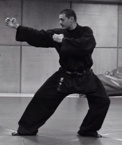 Dr. Kacem Zoughari demonstrating Seigan no Kamae